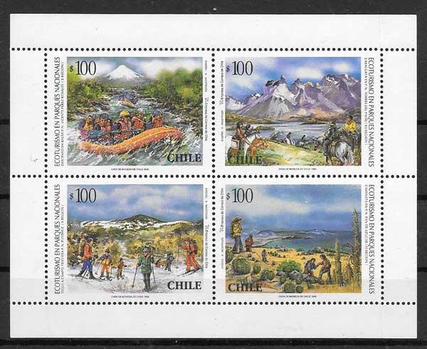 Filatelia turismo Chile 1996