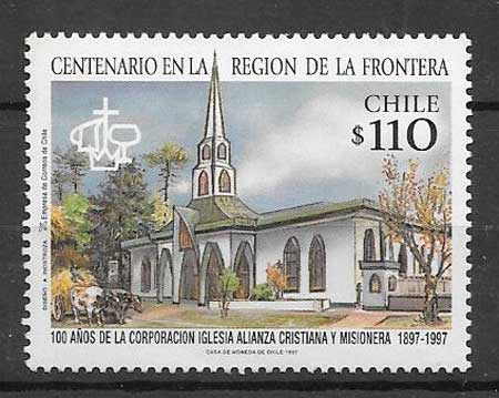 sellos colección turismo Chile 1997