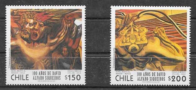 sellos colección arte Chile 1997