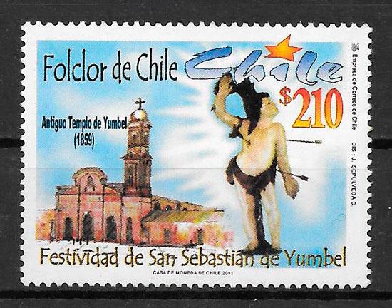 filatelia arquitectura Chile 2001