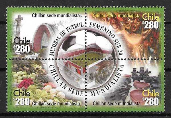 sellos Filatelia deporte Chile 2008