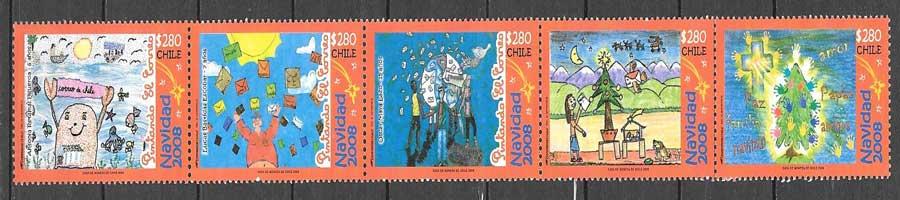 colección sellos navidad 2008