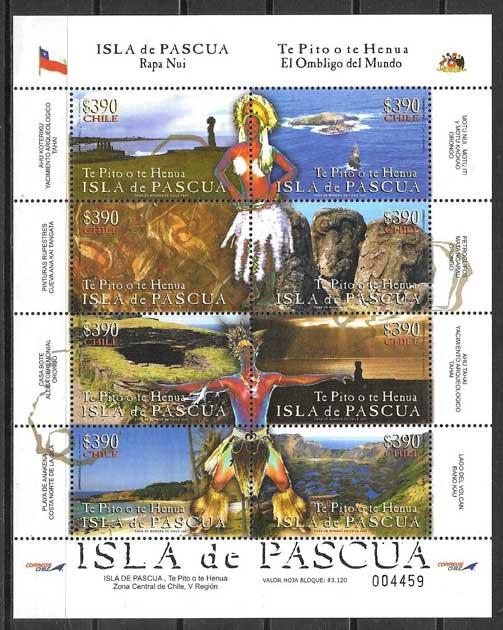 Filatelia Arquitectura y turismo Chile 2008