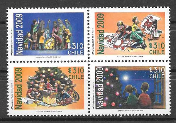 sellos navidad 2009 Chile