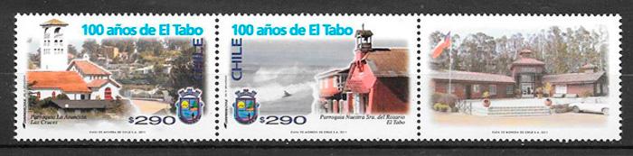 filatelia colección arquitectura Chile 2011