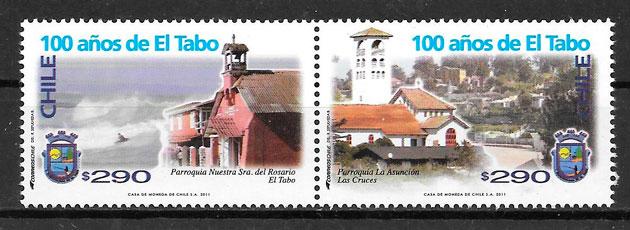 colección sellos arquitectura Chile 2011