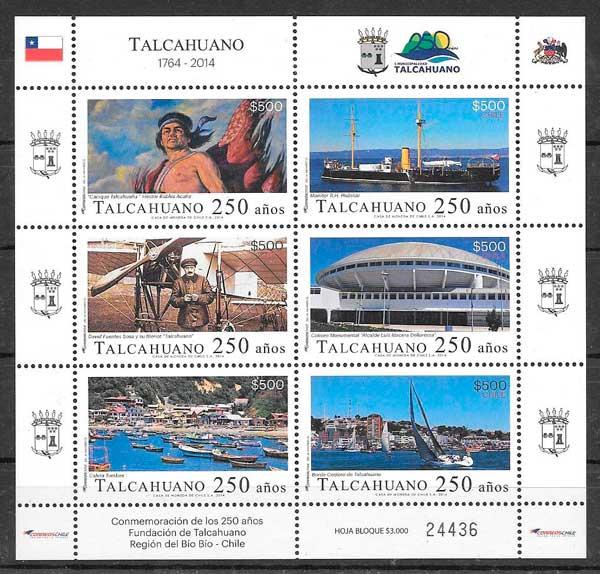 filatelia arquitectura Chile 2014