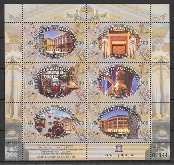 filatelia colección arquitectura Chile 2015