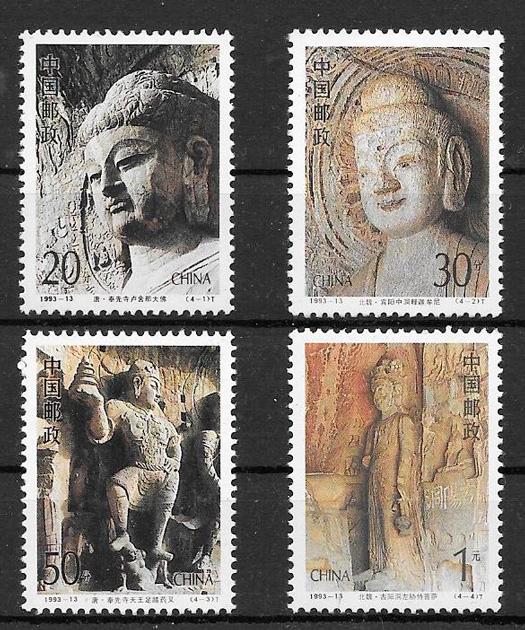filatelia arte China 1993