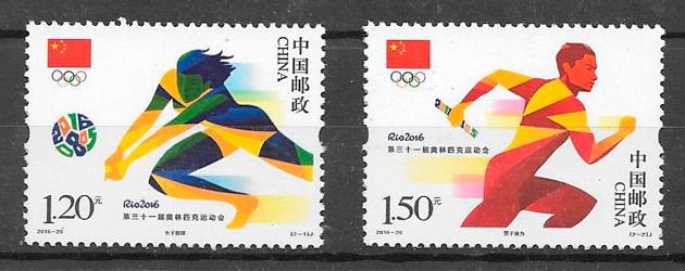 sellos deporte China 2016