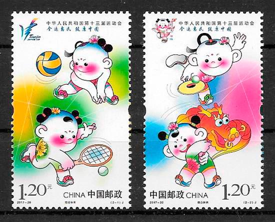 filatelia deporte China 2017