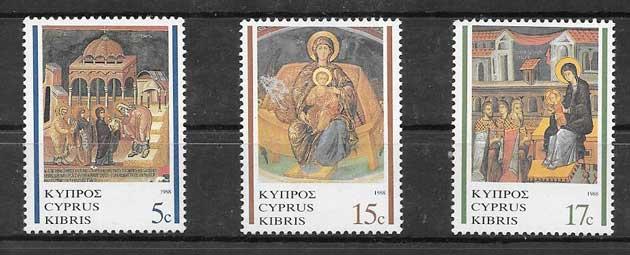 sellos Pinturas Chipre 1988