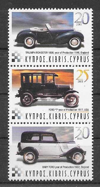 Colección sellos transporte Chipre 2003
