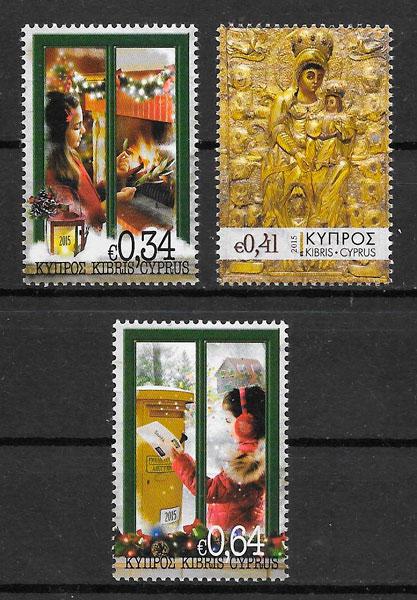 filatelia colección navidad 2015 Chipre
