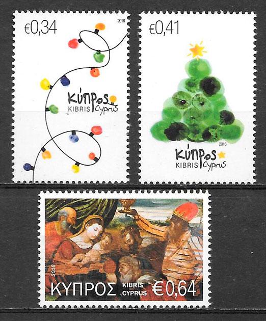 sellos navidad Chipre 2016