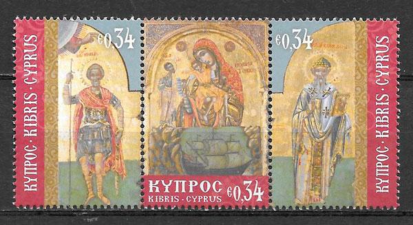 sellos navidad Chipre 2017