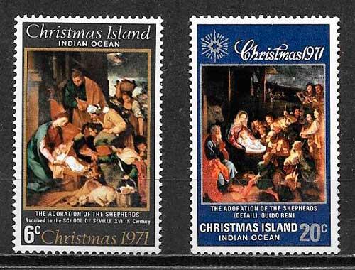 sellos navidad ChristmasIsland