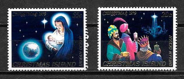 filatelia colección navidad Christmas Island 1979