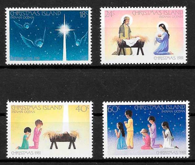 filatelia colección navidad Christmas Island 1981