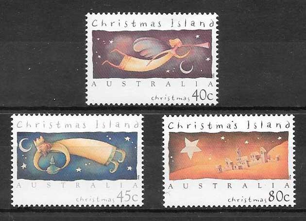 filatelia colección navidad Christmas Island 1994