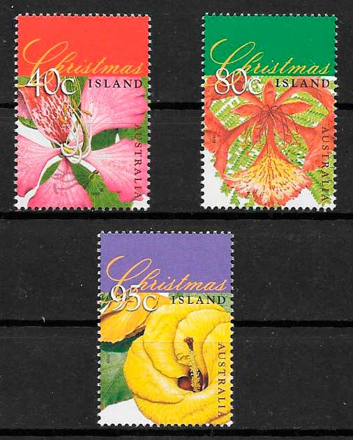 colección sellos navidad Christmas Island 1998