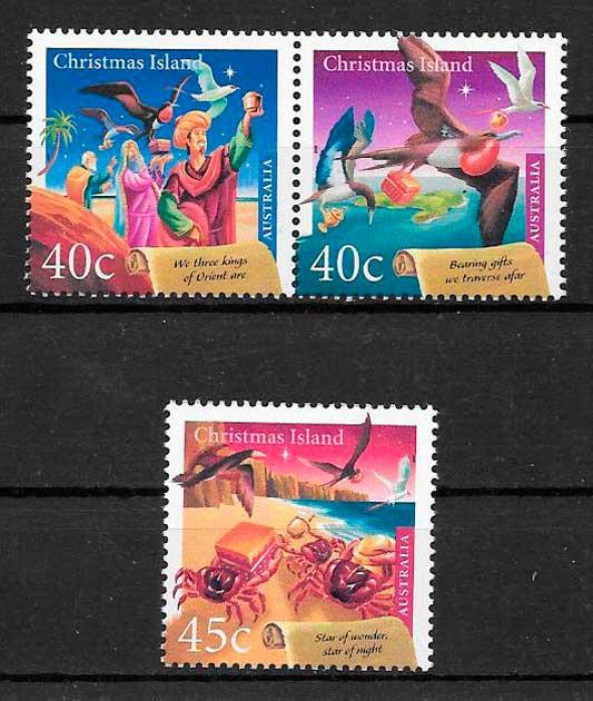 colección sellos navidad Christmas Island 2000