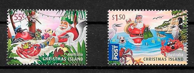 sellos navidad Christmas Island 2011