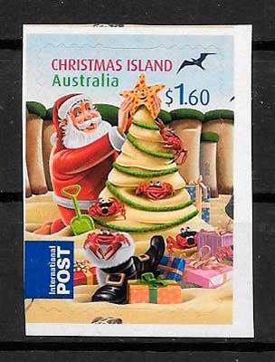 sellos navidad Christmas Island 2012