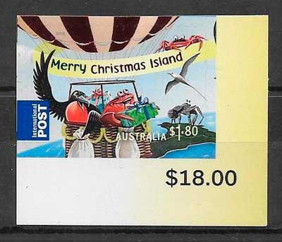 FILATELIA NAVIDAD Christmas Island 2013