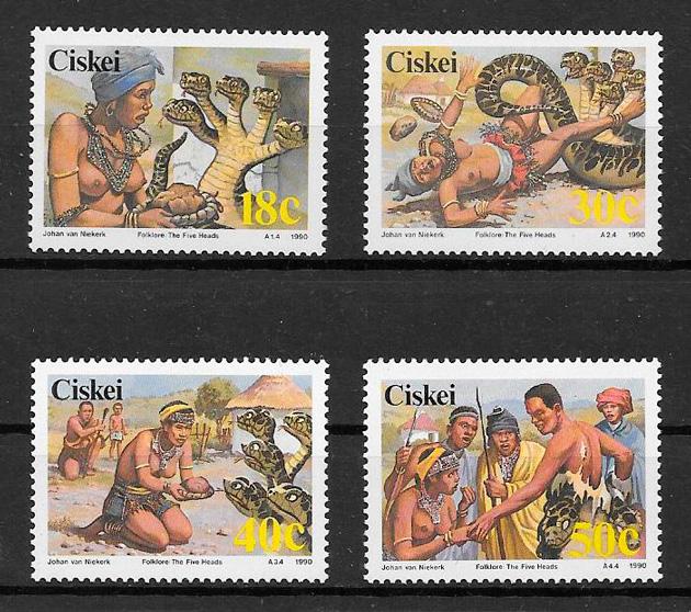 filatelia cuentos Ciskei 1990