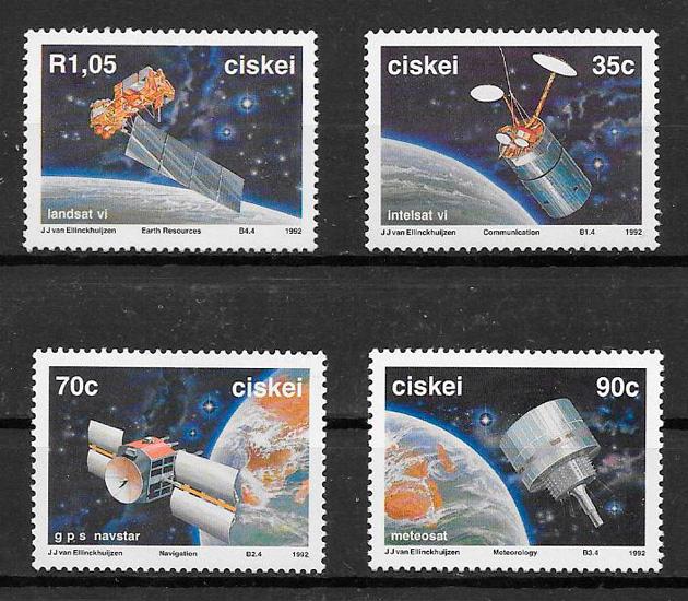 filatelia colección espacio Ciskei 1992