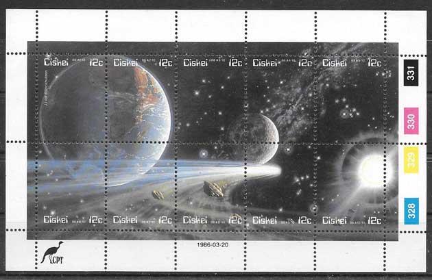 sellos filatelia espacio Ciskei 1996