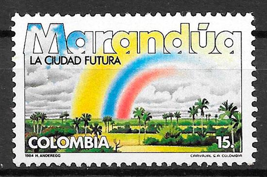 colección sellos turismo Colombia 1984