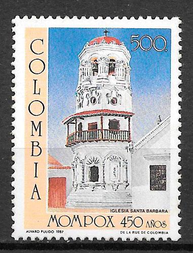 colección sellos arquitectura Colombia 1987