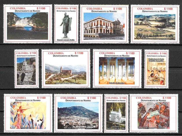 colección sellos turismo Colombia 2004