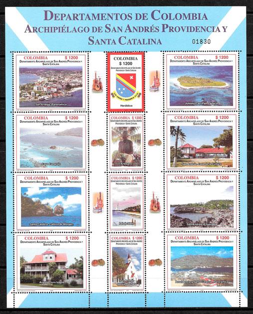 filatelia colección turismo Colombia 2005