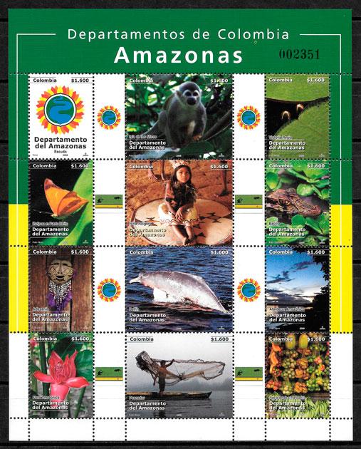 filatelia colección turismo Colombia 2008
