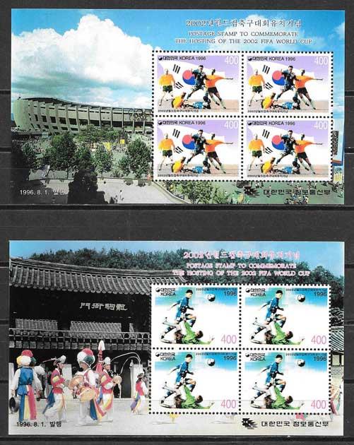 Filatelia Fútbol Corea del Sur 1996
