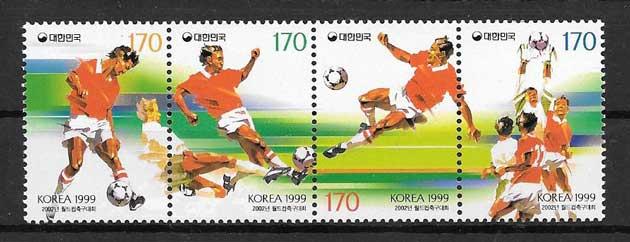 sellos fútbol Corea del Sur 1999