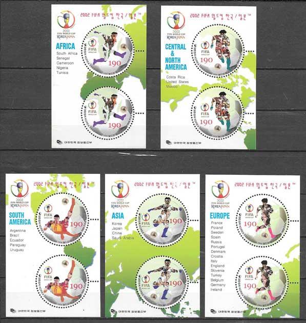 sellos fútbol Corea el Sur 2002