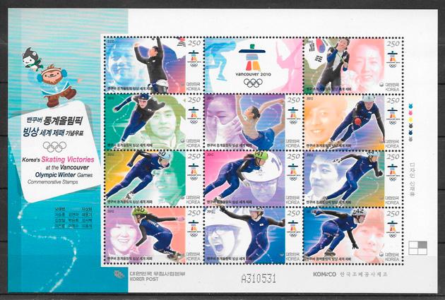 sellos deporte Corea del Sur 2006