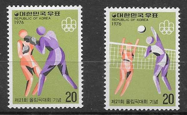 sellos deporte Corea del sur 1976