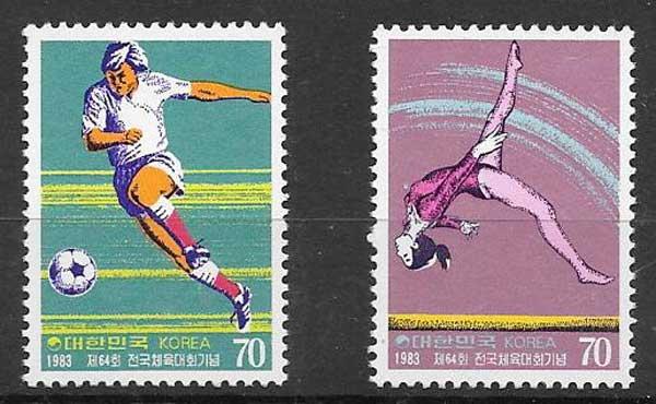 sellos deporte Corea del Sur 1983