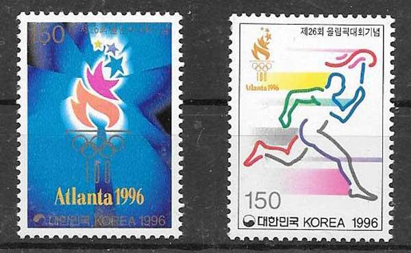 Filatelia deporte Corea del Sur 1996