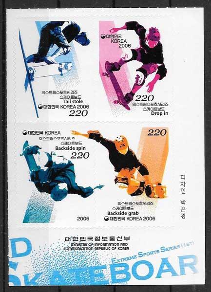 sellos colección deportes Corea del sur 2006