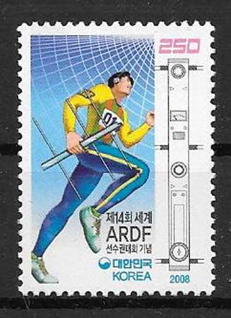 Filatelia deporte 2008 Corea del Sur