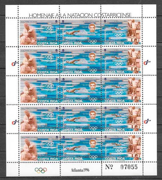 sellos deporte Costa Rica 1996