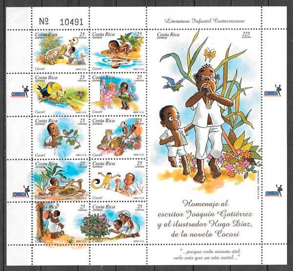 sellos cuentos Costa Rica 2003