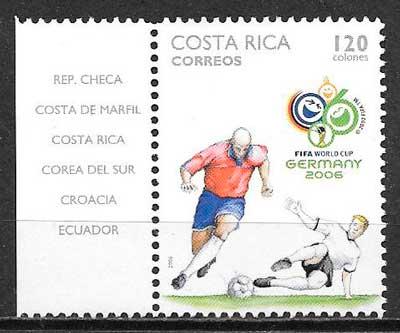 sellos colección deporte 2006 Costa Rica