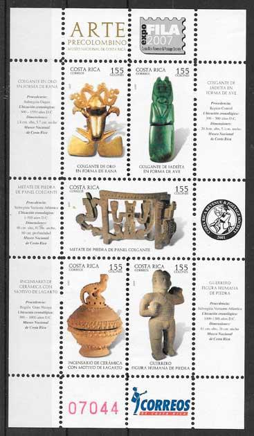 sellos arte Costa Rica 2007